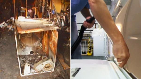 Device cleans lint from dryers to prevent fire