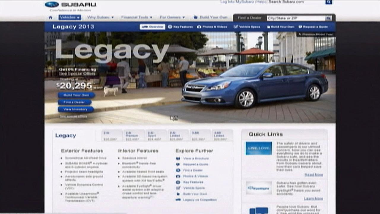 Subarus 2013 Legacy is seen.
