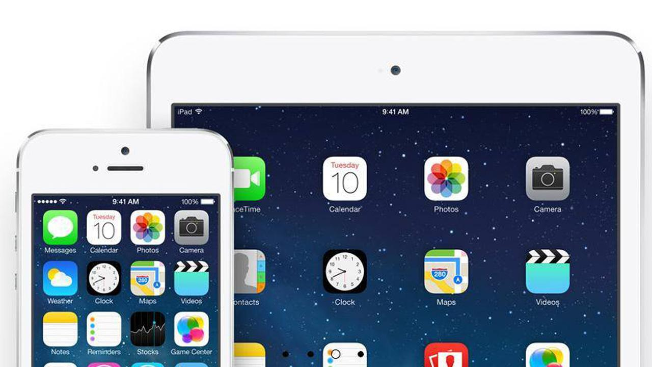 The iOS 7 operating system is seen in this image from Apple.