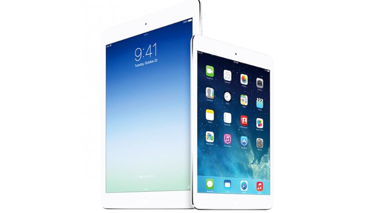 The iPad Air and iPad Mini with retina display were revealed at an Apple event in San Francisco on Tuesday, Oct. 22, 2013.