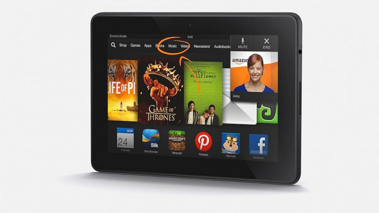 Finally, Consumer Reports says the Amazon Kindle Fire HDX is the top tablet. It has a high resolution seven-inch screen thats great for watching videos and for reading books and magazines. The Kindle Fire HDX sells for $230. <span class=meta>(Amazon.com)</span>