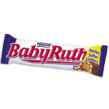 "<div class=""meta ""><span class=""caption-text "">Nabisco's Baby Ruth bar ranked No. 4 in Msn.com's list of worst Halloween candies for your health, based on fat and sugar content. A 60-gram Baby Ruth bar has 280 calories, 14 grams of fat, including 8 grams of saturated fat, and 33 grams of sugar. (Courtesy of Nabisco)</span></div>"