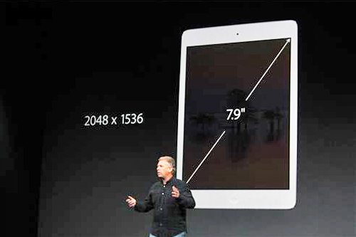 "<div class=""meta image-caption""><div class=""origin-logo origin-image ""><span></span></div><span class=""caption-text"">A new iPad Mini will be available later in November starting at $399 for a 16-gigabyte model. It has a retina display designed to give it a clearer, sharper picture and the same 64-bit chip that powers the iPad Air. (ABC News/ Joanna Stern)</span></div>"
