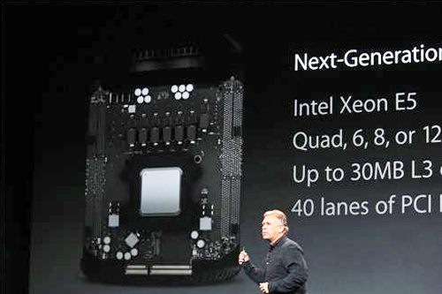 The new Mac Pro specs are detailed in an Apple event on Tuesday, Oct. 22, 2013.