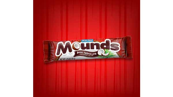 Hershey's Mounds bar ranked No. 5 in Msn.com's list of worst Halloween candies for your health, based on fat and sugar content. A 49-gram Mounds bar has 230 calories, 13 grams of fat and 21 grams of sugar. It also has 10 grams of saturated fat.