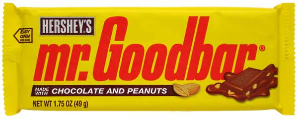 "<div class=""meta ""><span class=""caption-text "">Hershey's Mr. Goodbar ranked No. 1 in Msn.com's list of worst Halloween candies for your health, based on fat and sugar content. A 49-gram Mr. Goodbar will cost you 250 calories, 17 grams of fat, including 7 grams of saturated fat and 23 grams of sugar. (Courtesy of Hershey's)</span></div>"