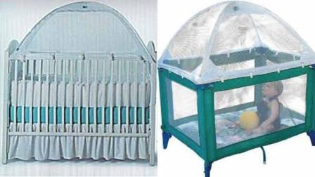 (Left) The Tots In Mind Cozy Crib Tent and (right) the Tots In Mind Portable Play Yard Tent.