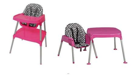 Evenflo Convertible High Chairs are shown in this file image provided by the U.S. Consumer Product Safety Commission.