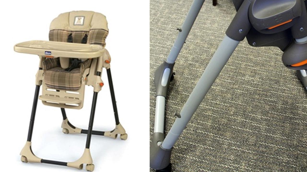 The U.S. Consumer Product Safety Commission released these photos of recalled Chicco Polly high chairs.