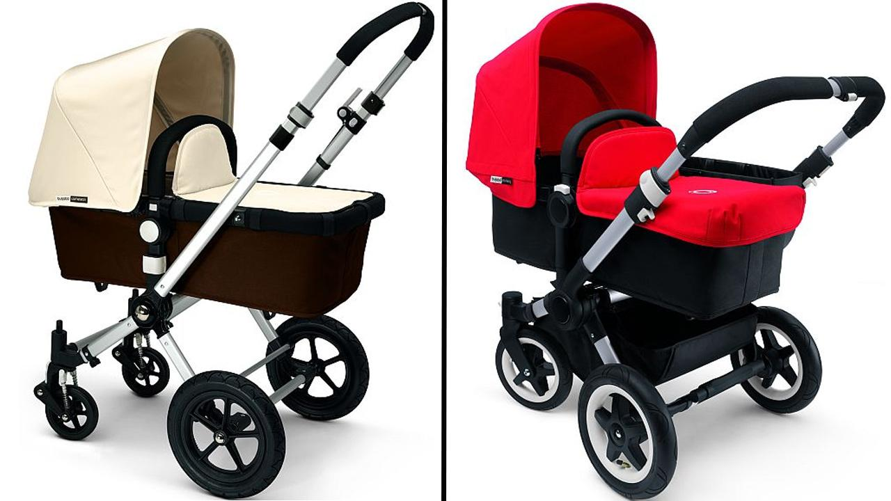 Bugaboo Cameleon (left) and Bugaboo Donkey (right) model strollers are seen in this undated photo from Bugaboo International.