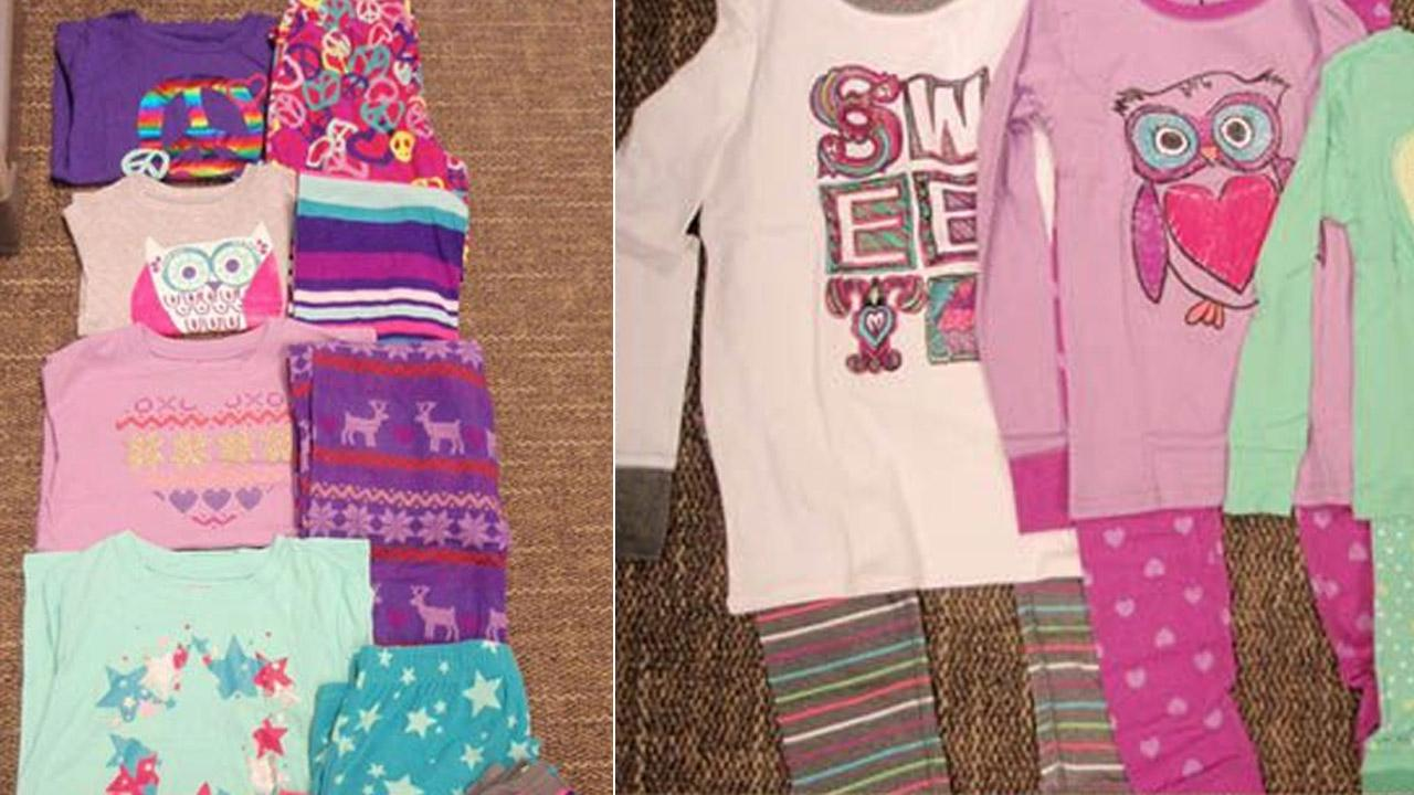 Target two-piece pajama sets are seen in these undated photos provided by the U.S. Consumer Product Safety Commission.