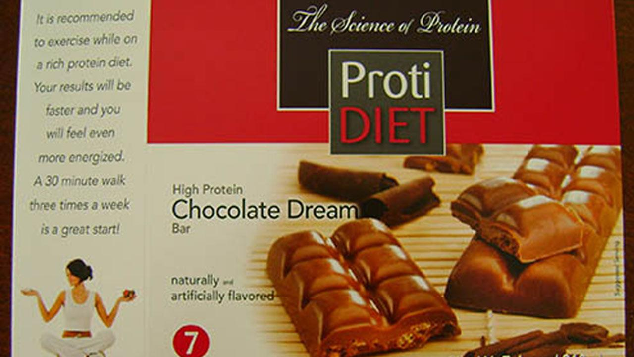 ProtiDiet High Protein Chocolate Dream bars are being recalled due to possible salmonella contamination.