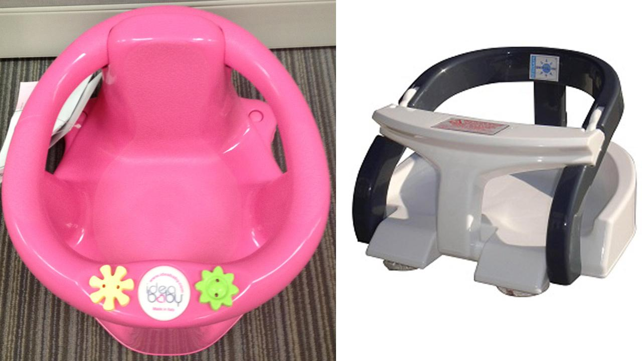 Baby bath seats recalled due to drowning hazard | abc7.com