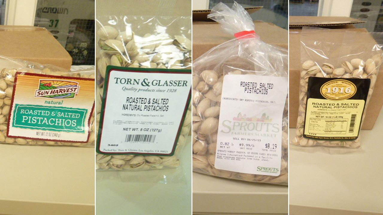Western Mixers issued a recall for ARO and/or Treasured Harvest Pistachios due to a potential contamination by salmonella.