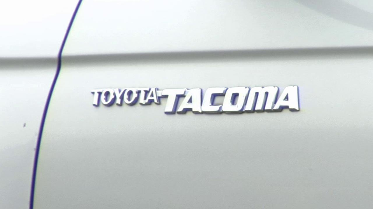 The Toyota Tacoma logo is shown in this undated file photo.