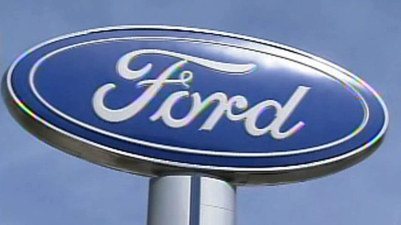 The Ford logo is seen in this undated file photo.