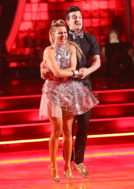 Candace Cameron Bure and Mark Ballas perform the Cha Cha Cha on week six of &#39;Dancing With The Stars&#39; on Monday, April 21, 2014. They received 32 out of 40 points from the judges. <span class=meta>(ABC &#47; Adam Taylor)</span>