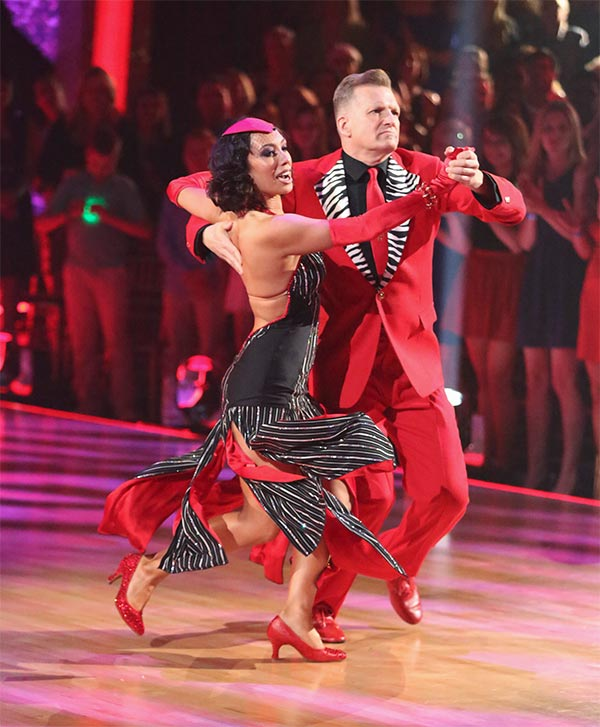 Drew Carey and Cheryl Burke dance the Tango on week 6 of ABC&#39;s &#39;Dancing With The Stars&#39; on Monday, April 21, 2014. They received 32 out of 40 points from the judges. <span class=meta>(ABC &#47; Adam Taylor)</span>