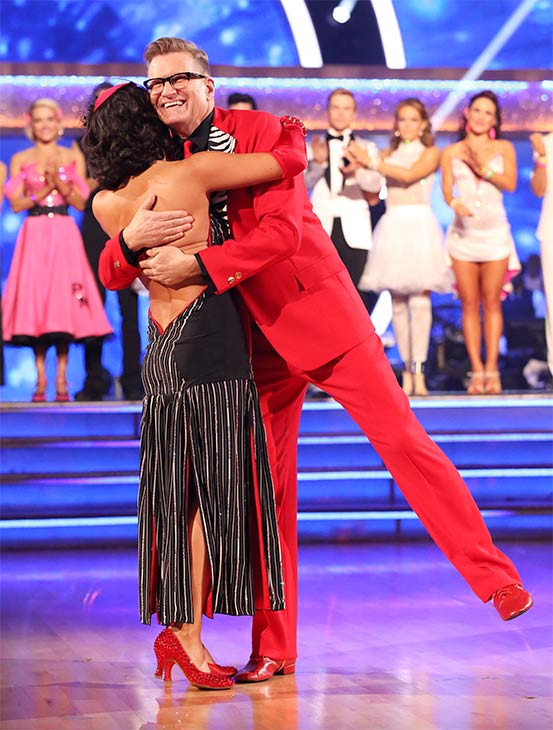 Drew Carey and Cheryl Burke react to being eliminated on week 6 of &#39;Dancing With The Stars&#39; on Monday, April 21, 2014. They received 32 out of 40 points for their &#39;Party Anthem&#39; Tango, placing last. <span class=meta>(ABC &#47; Adam Taylor)</span>