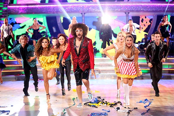 The remaining eight couples perform a group number with LMFAO frontman Redfoo on week six of &#39;Dancing With The Stars&#39; -- Party Anthem Night -- on Monday, April 21, 2014. <span class=meta>(ABC &#47; Adam Taylor)</span>