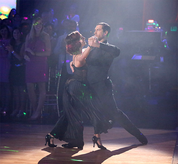 Meryl Davis and Maksim Chmerkovskiy dance the Tango on week 6 of &#39;Dancing With The Stars&#39; on Monday, April 21, 2014. They received a perfect score of 40 out of 40 points from the judges.  <span class=meta>(ABC &#47; Adam Taylor)</span>