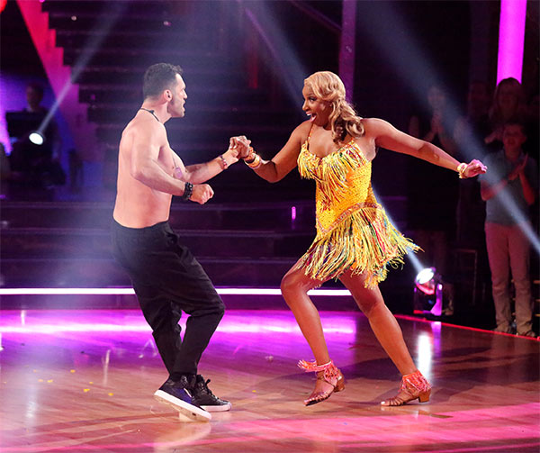 NeNe Leakes and Tony Dovolani dance the Salsa on week 6 of &#39;Dancing With The Stars&#39; on Monday, April 21, 2014. They received 33 out of 40 points from the judges. <span class=meta>(ABC &#47; Adam Taylor)</span>