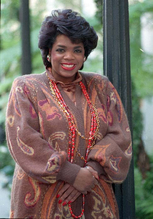 Talk show host Oprah Winfrey poses in Los Angeles, Calif., on Aug. 19, 1986 - less than a month before 'Th