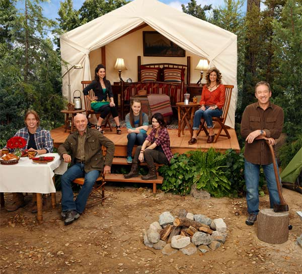 "<div class=""meta ""><span class=""caption-text "">'Last Man Standing,' ABC's new comedy series starring Tim Allen and Nancy Travis, debuts on Oct. 11, 2011  at 8 p.m. with a special one-hour episode.  Following episodes will air on Tuesdays from 8 to 8:30 p.m.  Today it's a woman's world, and this man's man is on a mission to get men back to their rightful place in society. Tim Allen plays Mike Baxter, a marketing director for an iconic outdoor sporting goods store.  He loves to have adventures while he's traveling for work and he drives a pick-up truck.  While Mike is the king of the hill at work, he's the odd man out in a home that is dominated by women -- namely his wife and their three daughters.  When his wife gets a promotion at work, Mike is pulled into more hands-on parenting than ever before. (ABC / Craig Sjodin)</span></div>"