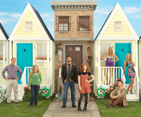 &#39;Suburgatory,&#39; a new ABC comedy series starring Jeremy Sisto and Cheryl Hines, debuts on Sept. 28, 2011 and will air on Wednesdays from 8:30 to 9 p.m.  Single father George &#40;played by Sisto&#41; moves his 16-year-old daughter, Tessa &#40;Jane Levy&#41;, out of their apartment in New York City to a house in the suburbs after he finds a box of condoms on her nightstand.  All Tessa sees is the horror of over-manicured lawns, plastic Franken-moms and sugar-free Red Bull-chugging kids. Being in the &#39;burbs can be hell, but it also may just bring Tessa and George closer than they&#39;ve ever been.   <span class=meta>(ABC &#47; Bob D&#39;Amico)</span>