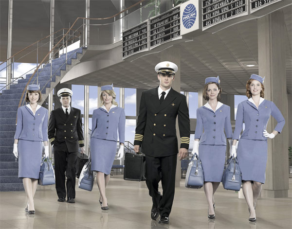 &#39;Pan Am&#39; &#40;Sundays at 10 p.m., premieres Sept. 25&#41;: Passion, jealousy and espionage... They do it all - and they do it at 30,000 feet. The style of the 1960s, the energy and excitement of the Jet Age and a drama full of sexy entanglements deliciously mesh in this thrilling and highly-original new series. In this modern world, air travel represents the height of luxury and Pan Am is the biggest name in the business. The planes are glamorous, the pilots are rock stars and the stewardesses are the most desirable women in the world.   &#39;Pan Am&#39; stars Christina Ricci &#40;&#39;Penelope&#39;&#41; as Maggie, Kelli Garner &#40;&#39;Going the Distance&#39;&#41; as Kate, Karine Vanasse &#40;&#39;Polytechnique&#39;&#41; as Colette, Margot Robbie &#40;&#39;Neighbours&#39;&#41; as Laura, Mike Vogel &#40;&#39;She&#39;s Out of My League,&#39; &#39;Cloverfield&#39;&#41; as Dean and Michael Mosley &#40;&#39;Justified&#39;&#41; as Ted. Jack Orman &#40;&#39;ER,&#39; &#39;Men of a Certain Age,&#39;&#41;, Tommy Schlamme &#40;&#39;The West Wing,&#39; &#39;Parenthood,&#39; &#39;Mr. Sunshine&#39;&#41; and Nancy Hult Ganis &#40;&#39;Akleeh and the Bee&#39;&#41; are the executive producers of &#39;Pan Am.&#39; Orman is also the writer, with Schlamme directing. &#39;Pan Am&#39; is produced by Jack Orman Productions, Out of the Blue Entertainment and Shoe Money Productions in association with Sony Pictures Television. <span class=meta>(ABC Photo &#47; Bob D&#39;Amico)</span>