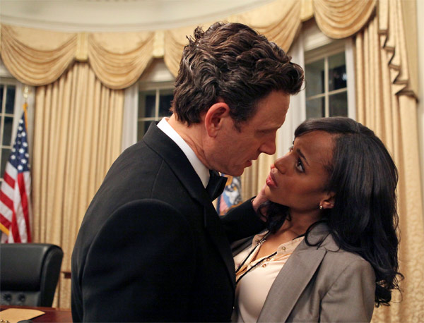 &#39;Scandal&#39; &#40;new drama for midseason, no premiere date announced&#41;: From the creator and executive producers of &#39;Grey&#39;s Anatomy&#39; and &#39;Private Practice&#39; comes a drama revolving around the life and work of a professional crisis manager and her dysfunctional staff.   A former media relations consultant to the President, Olivia Pope &#40;Kerry Washington&#41; dedicates her life to protecting and defending the public images of our nation&#39;s elite. After leaving the White House, the power consultant opened her own firm, hoping to start a new chapter -- both professionally and personally -- but she can&#39;t seem to completely cut ties with her past. Slowly it becomes apparent that her staff, who specialize in fixing the lives of other people, can&#39;t quite fix the ones closest at hand -- their own.   &#39;Scandal&#39; also stars Henry Ian Cusick &#40;&#39;Lost&#39;&#41; as Stephen Finch, Columbus Short &#40;&#39;Stomp the Yard&#39;&#41; as Harrison Wright, Guillermo Diaz &#40;&#39;Half-Baked&#39;&#41; as Huck, Darby Stanchfield as Abby Whelan, Katie Lowes as Quinn Perkins, Tony Goldwyn &#40;&#39;Ghost&#39;&#41; as President Fitzgerald Grant and Jeff Perry &#40;&#39;Grey&#39;s Anatomy&#39;&#41; as Cyrus. &#39;Scandal&#39; was written by Shonda Rhimes &#40;&#39;Grey&#39;s Anatomy,&#39; &#39;Private Practice&#39;&#41;. Rhimes and Betsy Beers &#40;&#39;Grey&#39;s Anatomy,&#39; &#39;Private Practice&#39;&#41; are executive producers. Paul McGuigan is the director. &#39;Scandal&#39; is produced by ABC Studios.  <span class=meta>(ABC Photo &#47; Danny Feld)</span>