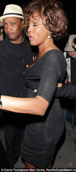 "<div class=""meta ""><span class=""caption-text "">Singer Whitney Houston is seen attending a Grammy Awards event at Tru Hollywood Nightclub in Hollywood for the ""Kelly Price & Friends Unplugged: For the Love of R&B"" on Thursday, Feb. 9, 2012.  Houston, who reigned as the queen of pop music in the 80s and early 90s, was found dead in a Beverly Hills hotel two days later. (PacificCoastNews.com)</span></div>"