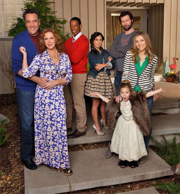 &#39;How to Live with Your Parents &#40;For the Rest of Your Life&#41;&#39; &#40;Wednesdays at 9:30 p.m., premieres April 3&#41;: Post-divorce, single mom Polly &#40;Sarah Chalke&#41; must move her daughter &#40;Rachel Eggleston&#41; back home with her eccentric parents, Elaine &#40;Elizabeth Perkins&#41; and Max &#40;Brad Garrett&#41;.     Polly and her parents are complete opposites: she&#39;s extremely conservative and uptight, while her parents are laid-back free spirits.  But with help from her best friend Gregg &#40;Orlando Jones&#41;, her lovable yet irresponsible ex-husband Julian &#40;Jon Dore&#41; and her cool and fun assistant Jenn &#40;Rebecca Delgado Smith&#41; Polly takes her first steps toward getting a life, starting with a social one.  &#34;How to Live with Your Parents &#40;For the Rest of Your Life&#41;&#34; stars Sarah Chalke &#40;&#34;Mad Love,&#34; &#34;Scrubs&#34;&#41; as Polly, Jon Dore as Julian, Rachel Eggleston as Natalie, Brad Garrett &#40;&#34;Everybody Loves Raymond,&#34; &#34;&#39;Til Death&#34;&#41; as Max, Orlando Jones &#40;&#34;Rules of Engagement&#34;&#41; as Gregg, Elizabeth Perkins &#40;&#34;Weeds&#34;&#41; as Elaine, Rebecca Delgado Smith as Jenn.    <span class=meta>(ABC Photo &#47; Craig Sjodin)</span>