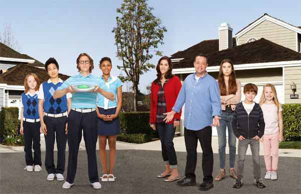 &#39;The Neighbors&#39; &#40;Wednesdays at 9:30 p.m., premieres in September&#41;: When a home goes on the market in an exclusive New Jersey gated community, Marty Weaver &#40;Lenny Venito&#41; wastes no time snatching it up, with hopes of providing a better life for his wife and three kids. But it&#39;s clear from moving day that the residents of Hidden Hills are a little different.  The Weavers soon learn that the entire community is comprised of aliens from Zabvron, where the men bear children and everyone cries green goo from their ears. The Zabvronians have been stationed on Earth for the past 10 years and have never had any interaction with humans, until the Weavers moved in to the neighborhood.   As it turns out, the pressures of marriage and parenthood are not exclusive to planet Earth. Two worlds will collide with hilarious consequences as everyone discovers they can &#34;totally relate&#34; and learn a lot from each other.   &#34;The Neighbors&#34; stars Jami Gertz &#40;&#34;Entourage,&#34; &#34;Modern Family,&#34; &#34;Still Standing,&#34; &#34;Ally McBeal&#34;&#41; as Debbie Weaver, Lenny Venito &#40;&#34;Bored to Death,&#34; &#34;Men in Black III,&#34; &#34;Person of Interest,&#34; &#34;Curb Your Enthusiasm&#34;&#41; as Marty Weaver, Simon Templeman as Larry Bird, Toks Olagundoye as Jackie Joyner-Kersee, Clara Mamet as Amber Weaver, Tim Jo &#40;&#34;Glory Daze&#34;&#41; as Reggie Jackson, Ian Patrick &#40;&#34;Wanderlust&#34;&#41; as Dick Butkis, Max Charles &#40;&#34;The Three Stooges,&#34; &#34;The Amazing Spider-Man&#34;&#41; as Max Weaver, Isabella Cramp as Abby Weaver.    <span class=meta>(ABC Photo &#47; Craig Sjodin)</span>