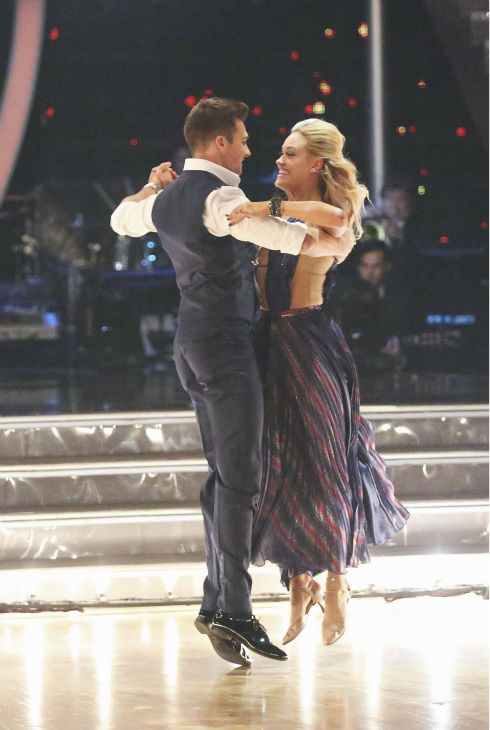 Musician James Maslow and partner Peta Murgatroyd danced the Foxtrot on the season premiere of &#39;Dancing With The Stars&#39; on Monday, March 17, 2014.  They received 21 out of 30 points from the judges.  <span class=meta>(ABC Photo&#47; Adam Taylor)</span>