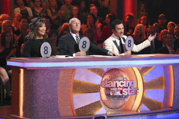 Judges Carrie Ann Inaba, Len Goodman and Bruno Tonioli appear on the season 18 premiere of &#39;Dancing With The Stars&#39; on Monday, March 17, 2014. <span class=meta>(ABC Photo&#47;Adam Taylor)</span>