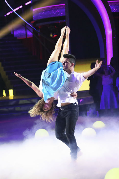 Actress Candace Cameron Bure and partner Mark Ballas performed a Contemporary routine on the season premiere of &#39;Dancing With The Stars&#39; on Monday, March 17, 2014. They received 25 out of 30 points from the judges. <span class=meta>(ABC Photo&#47; Adam Taylor)</span>