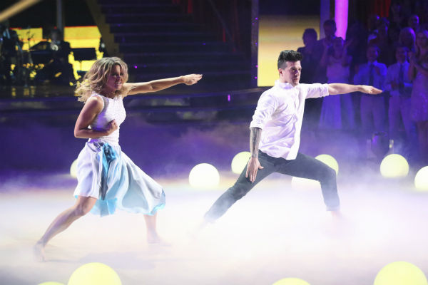 Actress Candace Cameron Bure and partner Mark Ballas performed a Contemporary routine on the season premiere of &#39;Dancing With The Stars&#39; on Monday, March 17, 2014. They received 25 out of 30 points from the judges. <span class=meta>(ABC Photo&#47;Adam Taylor)</span>