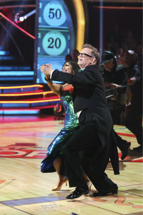 Comedian Drew Carey and partner Cheryl Burke danced the Foxtrot  on the season premiere of &#39;Dancing With The Stars&#39; on Monday, March 17, 2014.  They received 21 out of 30 points from the judges. <span class=meta>(ABC Photo&#47;Adam Taylor)</span>