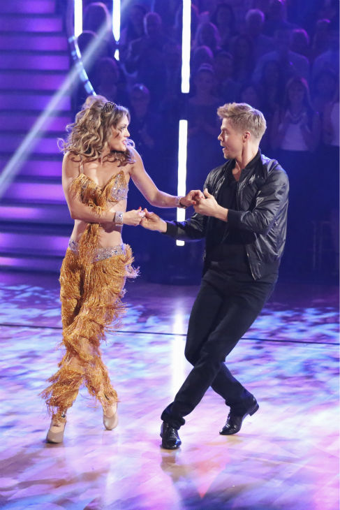 "<div class=""meta ""><span class=""caption-text "">Paralympic snowboarder Amy Purdy and partner Derek Hough danced the Cha Cha Cha on the season premiere of 'Dancing With The Stars' on Monday, March 17, 2014. They received 24 out of 30 points from the judges. (ABC Photo/ Adam Taylor)</span></div>"