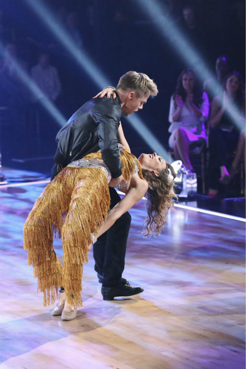 Paralympic snowboarder Amy Purdy and partner Derek Hough danced the Cha Cha Cha on the season premiere of &#39;Dancing With The Stars&#39; on Monday, March 17, 2014. They received 24 out of 30 points from the judges. <span class=meta>(ABC Photo&#47; Adam Taylor)</span>