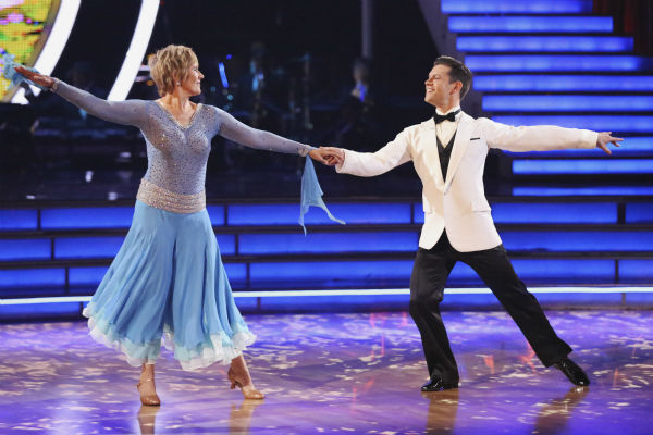 Swimmer Diana Nyad and partner Henry Byalikov danced the Foxtrot on the season premiere of &#39;Dancing With The Stars&#39; on Monday, March 17, 2014. They received 18 out of 30 points from the judges. <span class=meta>(ABC Photo&#47; Adam Taylor)</span>