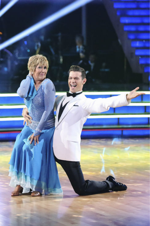 Swimmer Diana Nyad and partner Henry Byalikov danced the Foxtrot on the season premiere of &#39;Dancing With The Stars&#39; on Monday, March 17, 2014. They received 18 out of 30 points from the judges. <span class=meta>(ABC Photo&#47;Adam Taylor)</span>