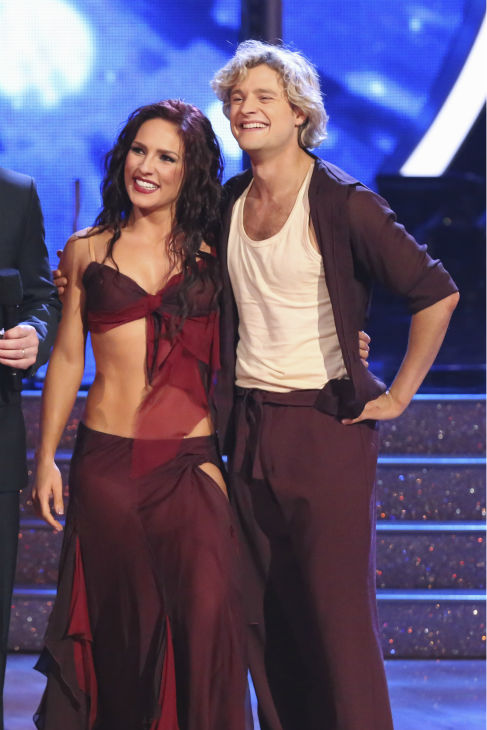 Olympic ice dancer Charlie White and partner Sharna Burgess performed a Contemporary routine on the season premiere of &#39;Dancing With The Stars&#39; on Monday, March 17, 2014. They received 27 out of 30 points from the judges. <span class=meta>(ABC Photo&#47;Adam Taylor)</span>