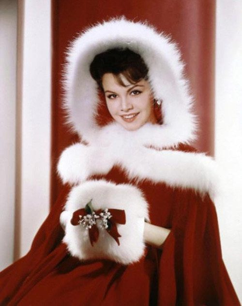Actress Annette Funicello is seen in this Christmas photo from the 1960s. <span class=meta>(Courtesy of Annette Funicello Research Fund for Neurological Diseases Inc.)</span>