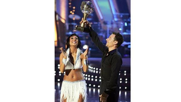 Singer Drew Lachey and partner Cheryl Burke won the coveted mirror-ball trophy in Season 2 of 'Dancing With the Stars.'