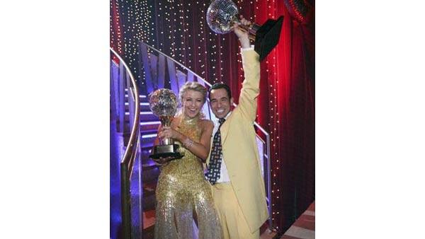Race car driver Helio Castroneves and partner Julianne Hough won the top spot on Season 5 of 'Dancing With the Stars.'