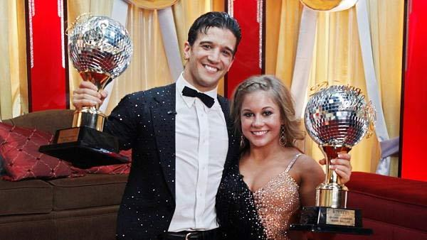 Gymnast Shawn Johnson and partner Mark Ballas won the coveted mirror-ball trophy in Season 8 of 'Dancing With the Stars.'