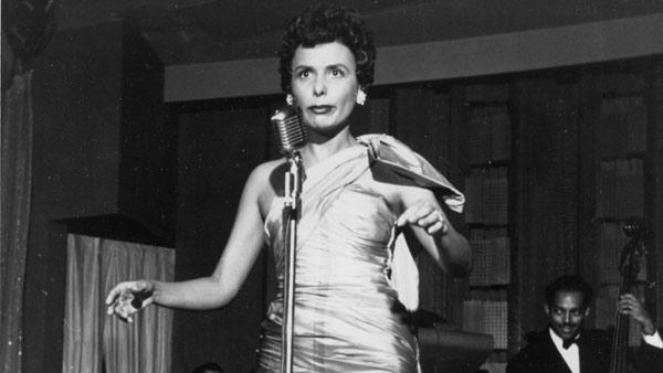 In a March 1954 file photo, singer Lena Horne performs at the Sands Hotel in Las Vegas, Nev.
