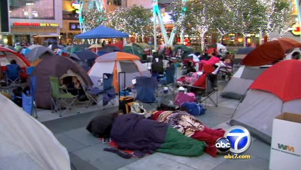 These devoted fans are camped out four days before the premiere.